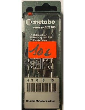 Coffret 5 forets béton metabo