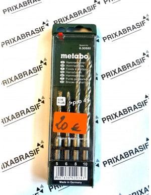 Coffret 4 forets béton SDS metabo