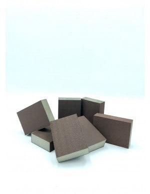 Eponge abrasive carbure de silicium 4 faces pour ponçage manuel