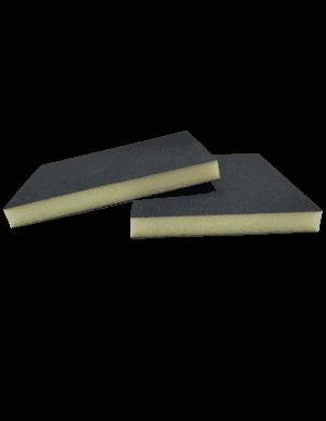 Eponge abrasive 2 faces pour ponçage du bois, métal, plastique et vernis