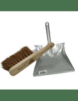Ramasse poussière  métal + balayette bois coco - Nettoyage d'atelier