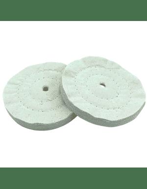Disque roue de polissage en coton, 2 coutures. Pour machine à polir, touret à polir.