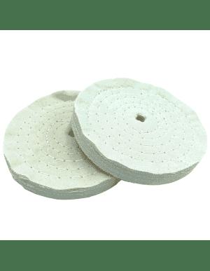 Disque roue coton de polissage, multi-coutures - Pour touret à polir